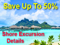 50 Percent Off Shore Excursions