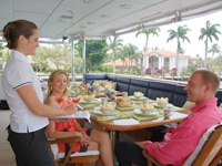 Yacht Aft Deck Dining
