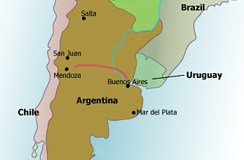 Argentina Wine Tour Map