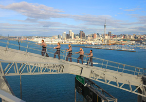 Auckland New Zealand Bridge climbing