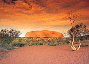 Australia Ayers Rock Sunset Tauck
