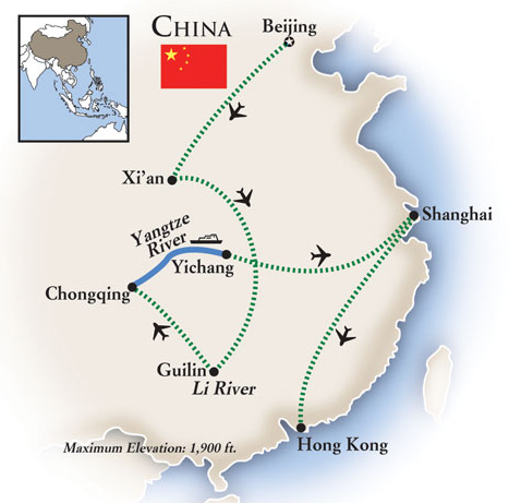 China Grand Tour Map