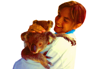 Donna and Koala bear Australia