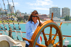 San Francisco yacht wheel