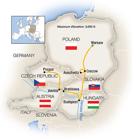 Eastern Europe Tour Map