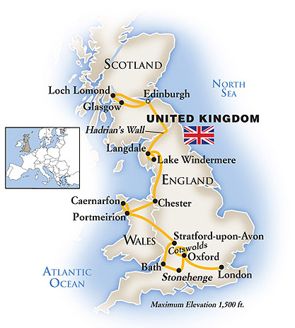 England Scotland Tour Map