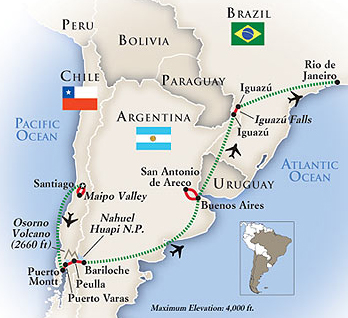 South America Tour Map