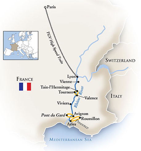 France River Tour Map