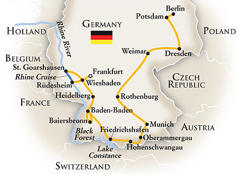 Germany Tour Map