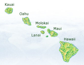 Hawaii Islands Map