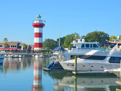 Hilton Head South Carolina Harbor Town Marina