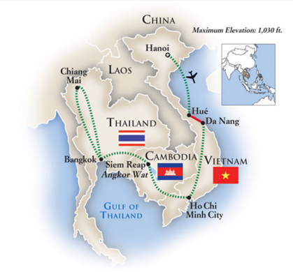 Indochina Tour Map