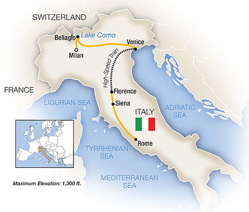 Lakes and North Italy Tour