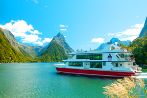 Milford Sound boat New Zealand