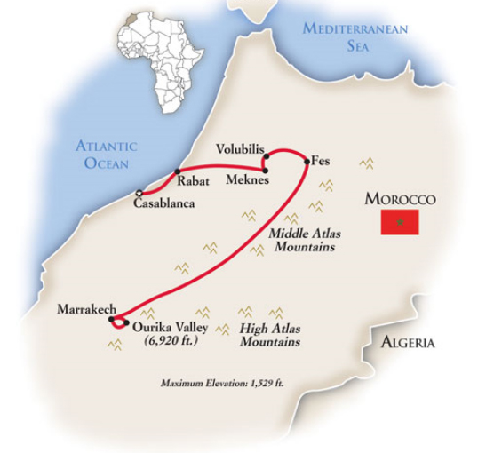 Morocco Tour Map