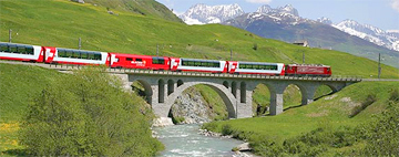 Switzerland Mountain Train