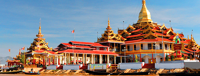 Myanmar Temple Header page
