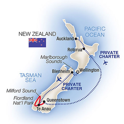 New Zealand Tour Map