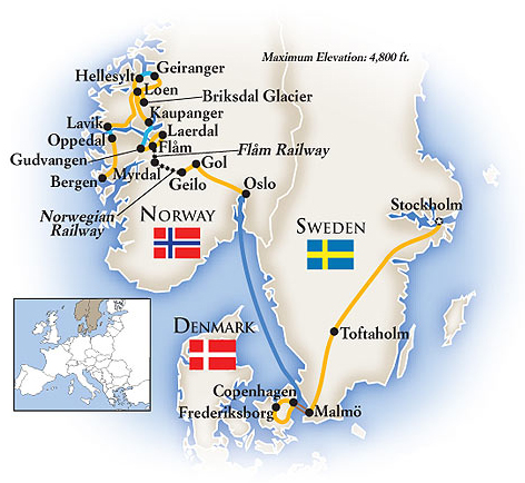Norway Sweden Tour Map