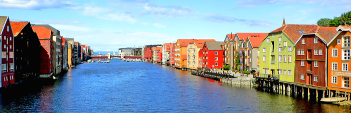 Norway Trondheim Homes on Water