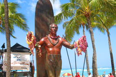 Oahu Waikiki Beach Duke Kahanamoku Surfer Statue Hawaii