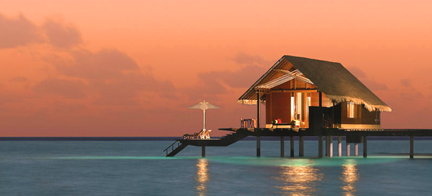 Maldives Night Over Water Bungalows