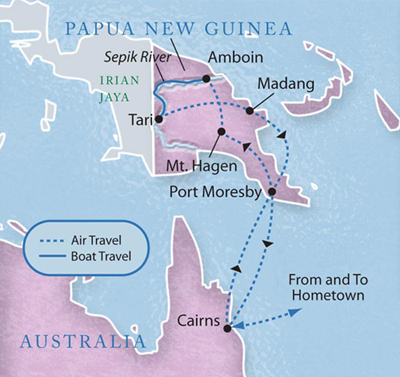 Paupa New Guinea Map