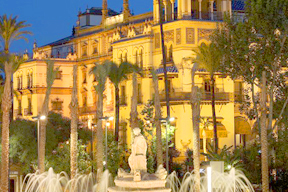 Spain Seville Hotel Alfonso night