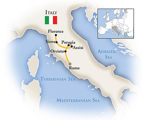 Tuscany Italy Tour Map