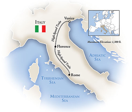 Venice Italy Florence Rome Tour Map